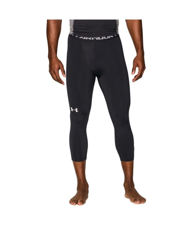 Under Armour Under Armour Men's Heatgear Armour Three Quarter Length Compression Leggings, Poison/black