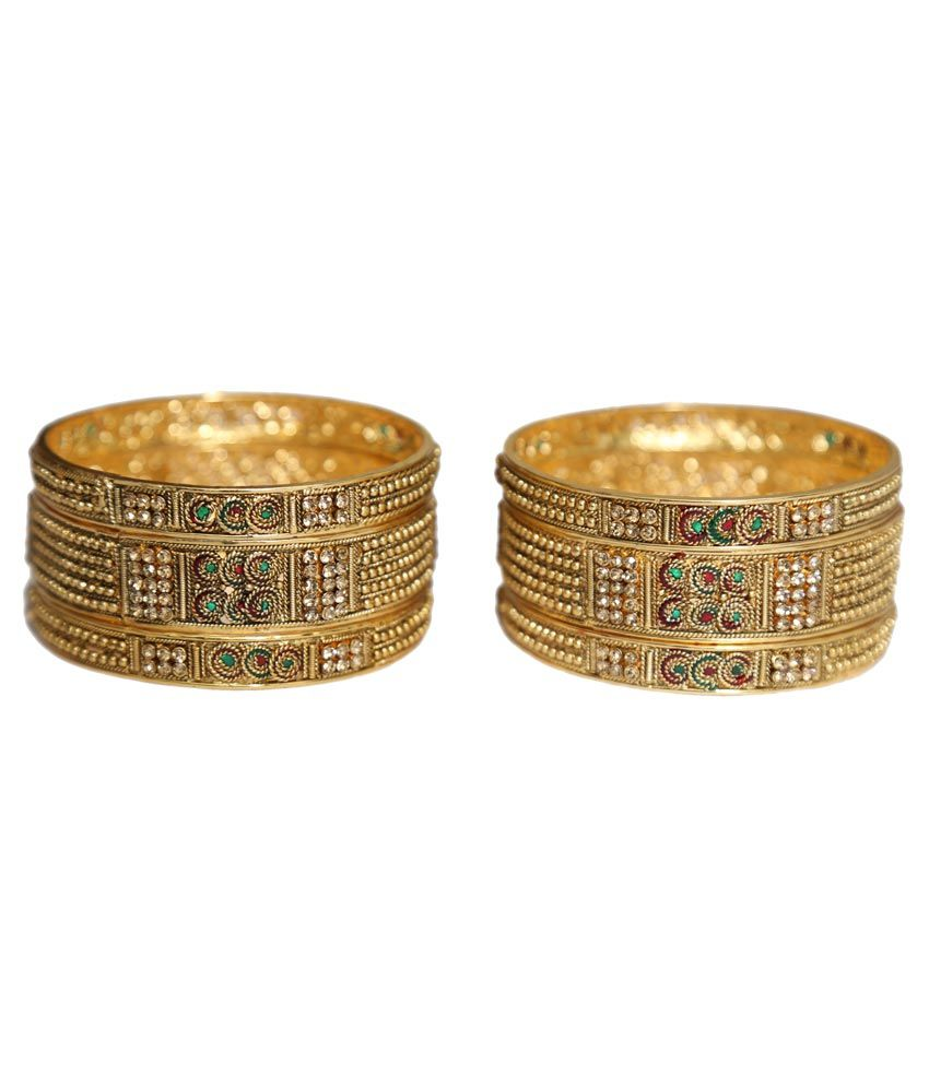 New Era Golden Alloy Bangle Set