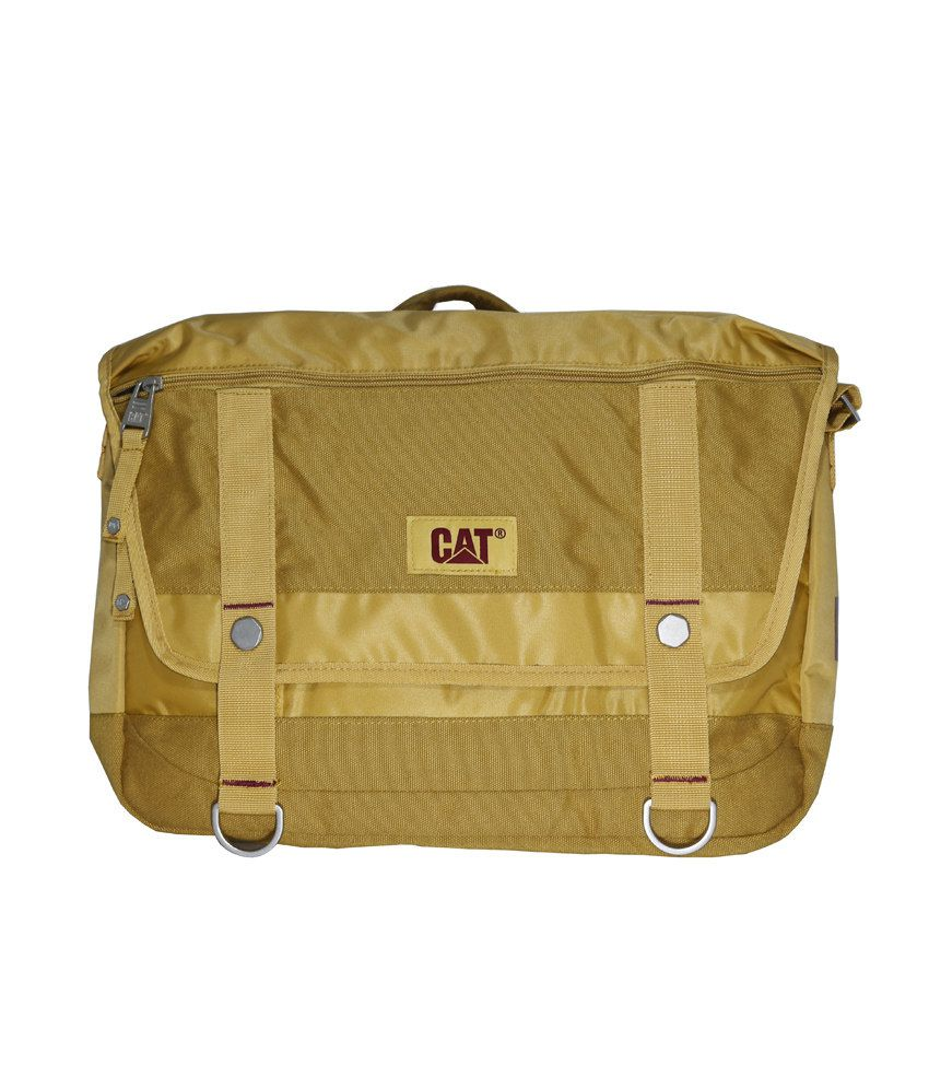 Cat Beige Laptop Bag