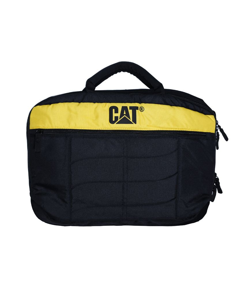 Cat Blue And Yellow Laptop Bag