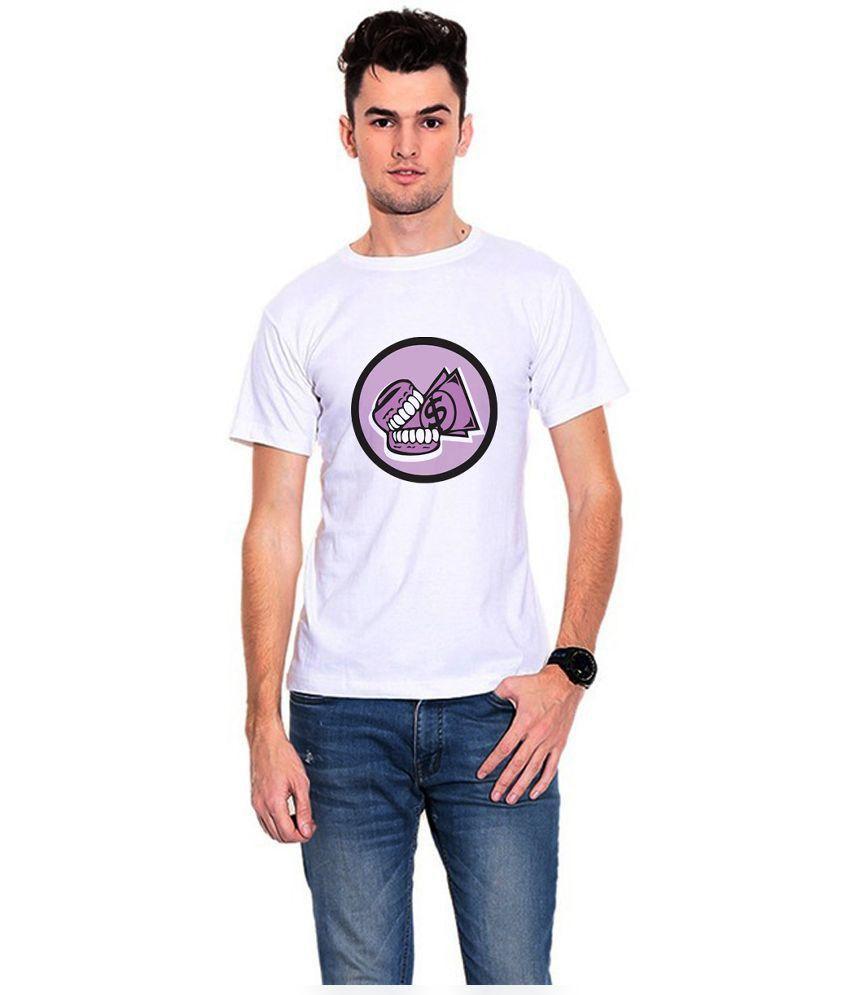 Dealnearn White Polyester T - Shirt