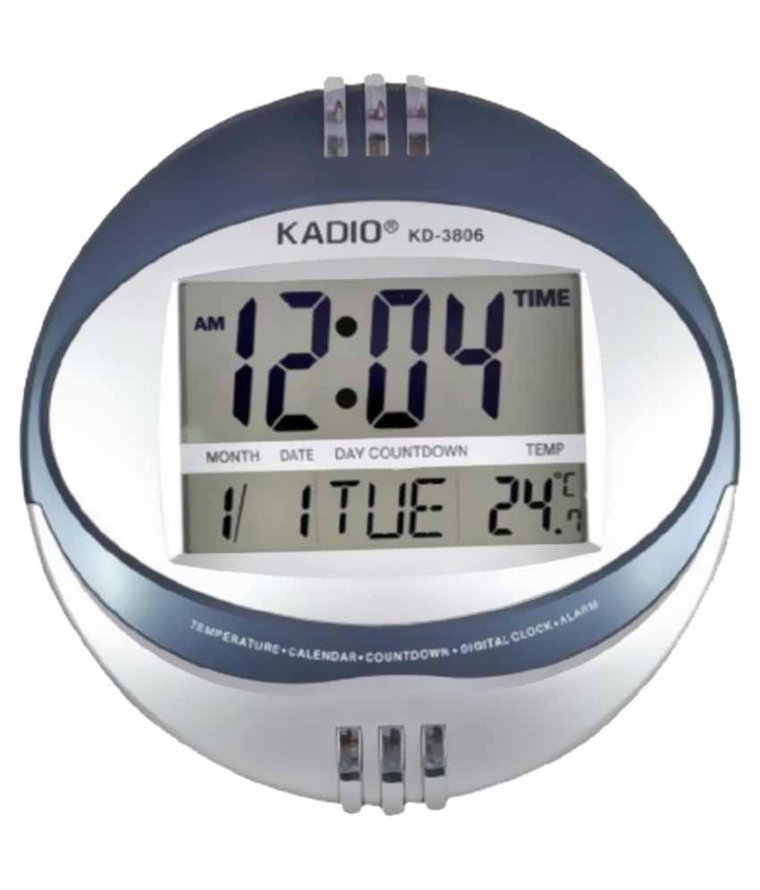 Kadio Silver Digital Table Clock Best Price In India On