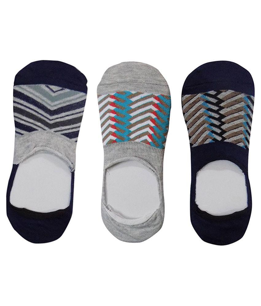 Stonic Multicolour Cotton Low Cut Socks For Men - 3 Pair Pack