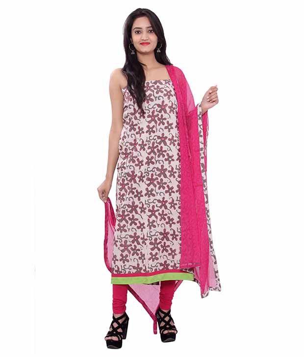 Belleza Fashions Multicoloured Cotton Straight Unstitched Dress Material