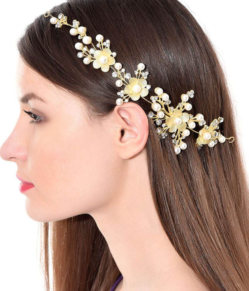 Wedding Hairstyle Prices: Dazzle Collections Gold Formal Hair Clip: Buy Online At