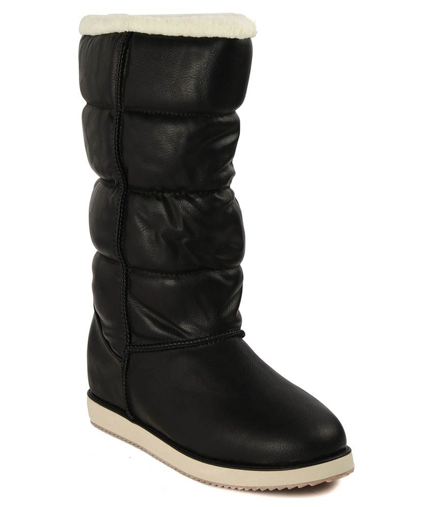 flat n heels black boots price in india buy flat n heels