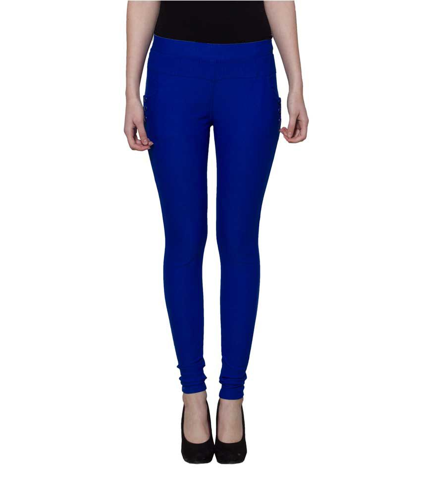 Lgc Blue Poly Cotton Jeggings