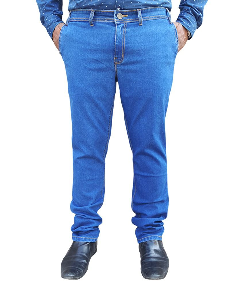White Pelican Blue Stretchable Regular Fit Jeans