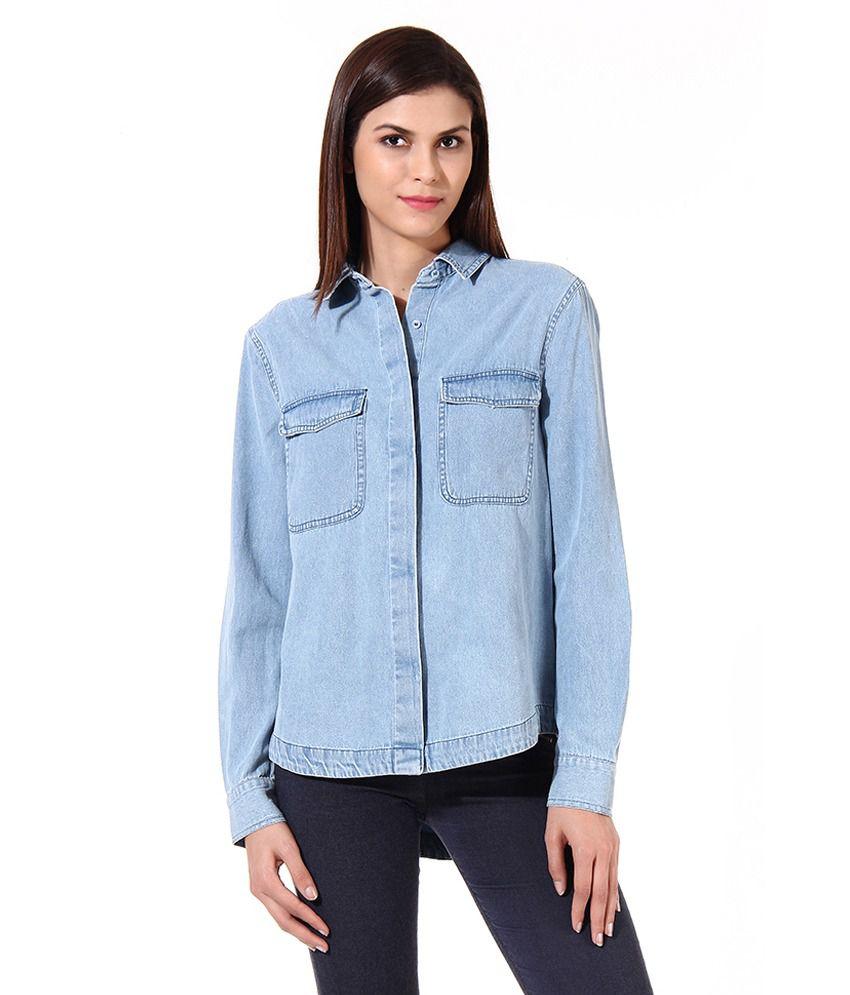 Oxolloxo Blue Cotton Shirts