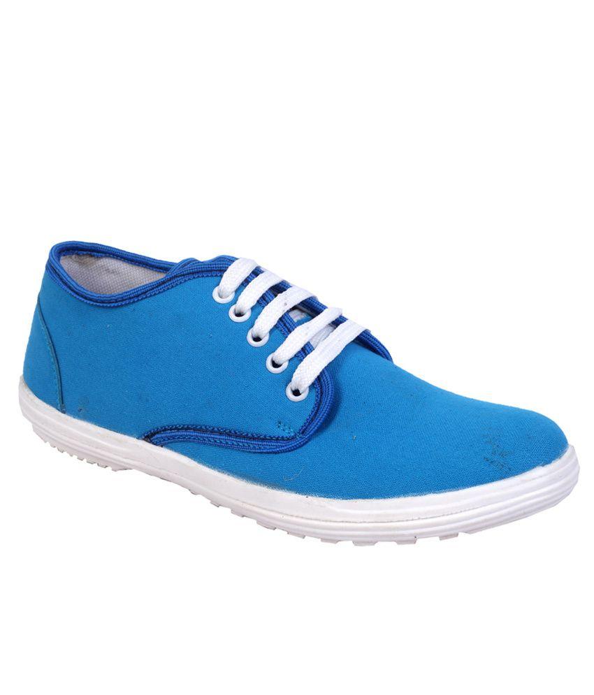 rozalax blue canvas shoes