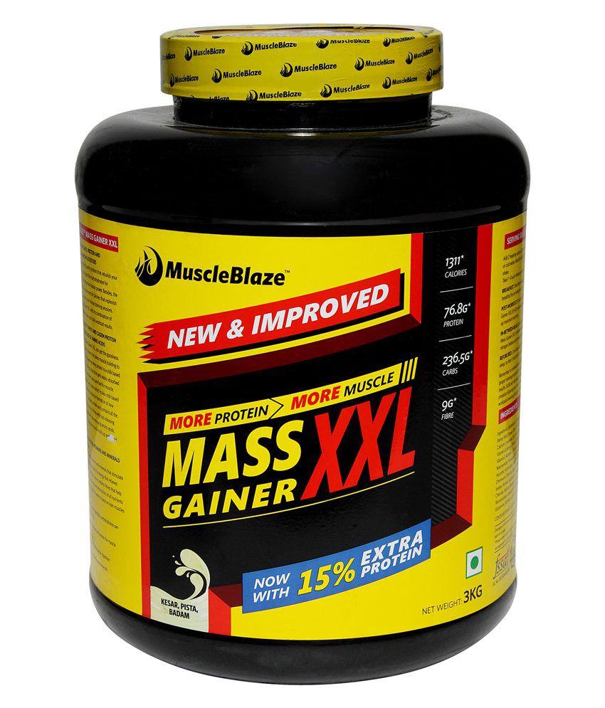 Sorry! MuscleBlaze Mass Gainer XXL 3 kg / 6.6 lbs Kesar Pista Badam is