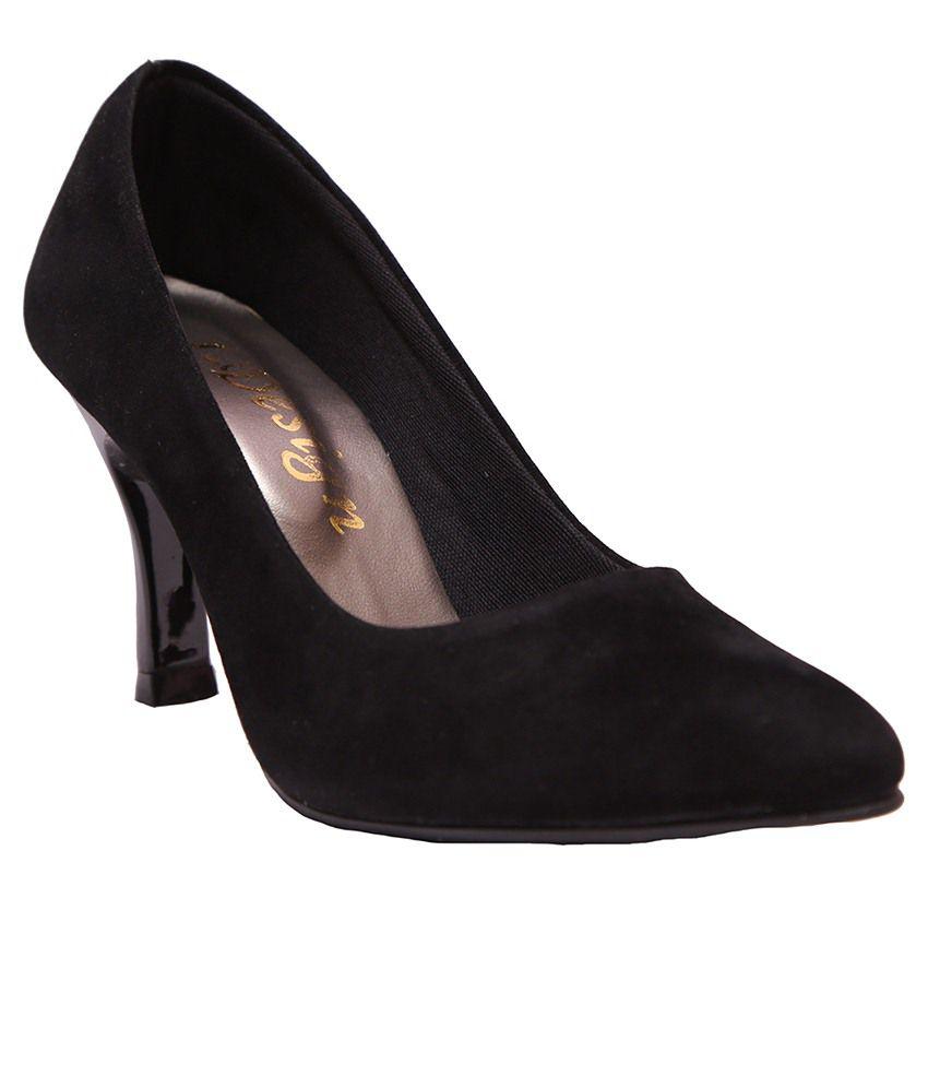 I Design Black Heeled Heels