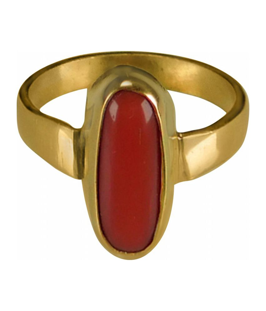Asian Gems & Jewels Red 4.25 Ratti Ring