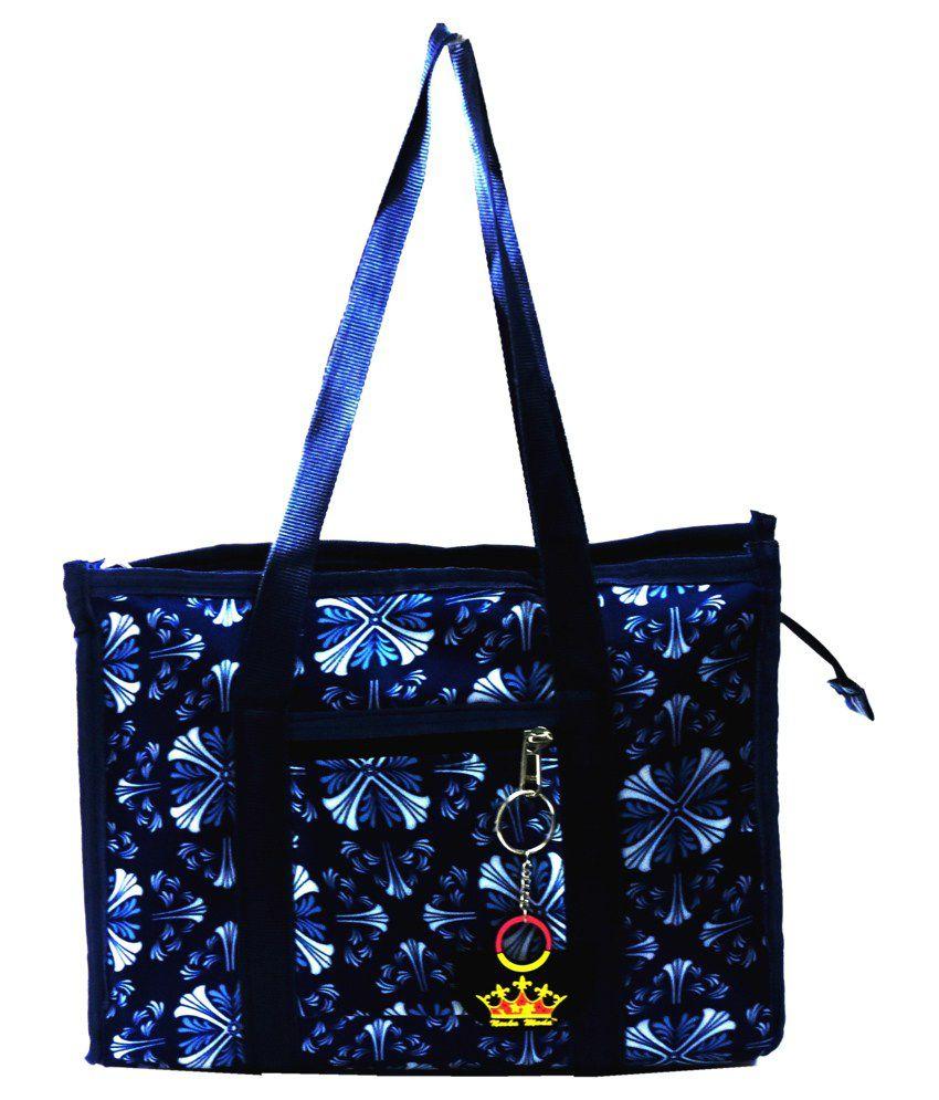 Neska Moda Blue P.u. Tote Bag