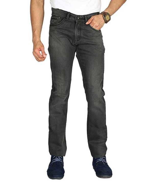 Wax Woods Grey Regular Fit Casual Flat Trousers