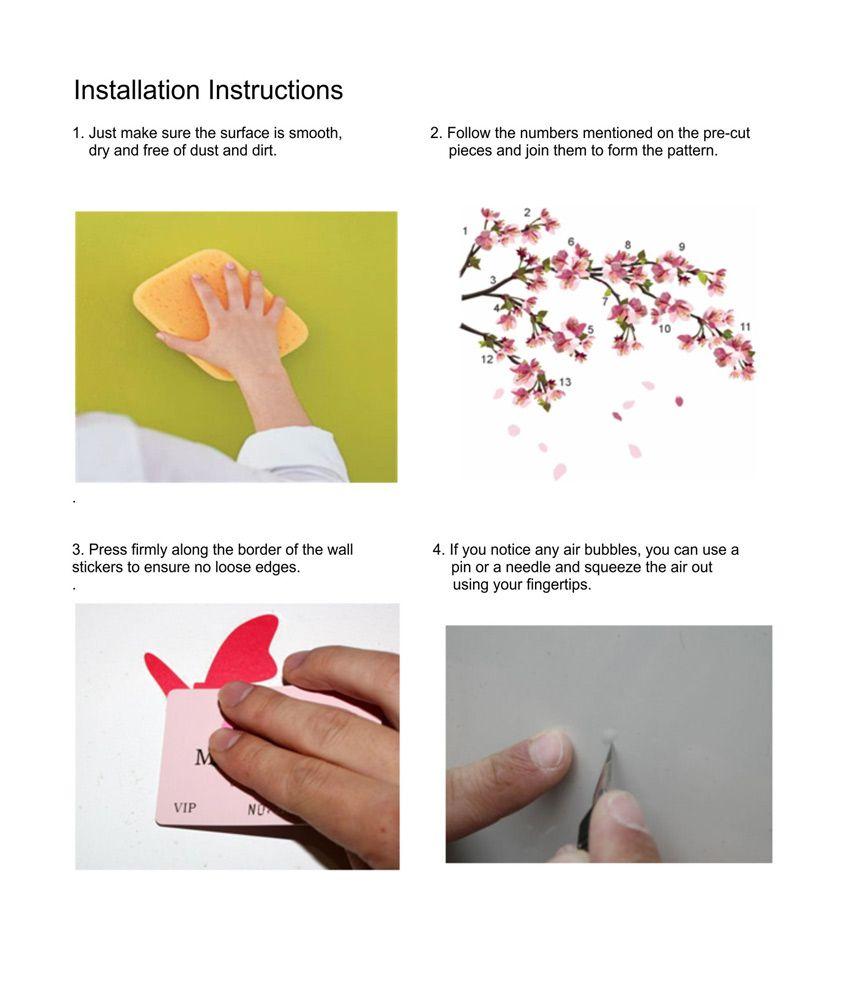 StickersKart flowers trees PVC Wall Stickers Buy StickersKart