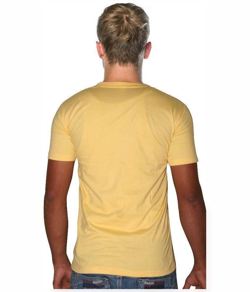 Hope Star Yellow Cotton T-Shirt
