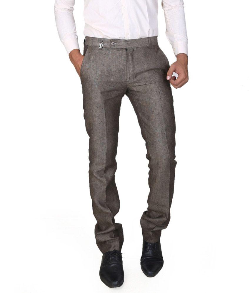 Boy Adam Grey Slim Fit Formal Trouser