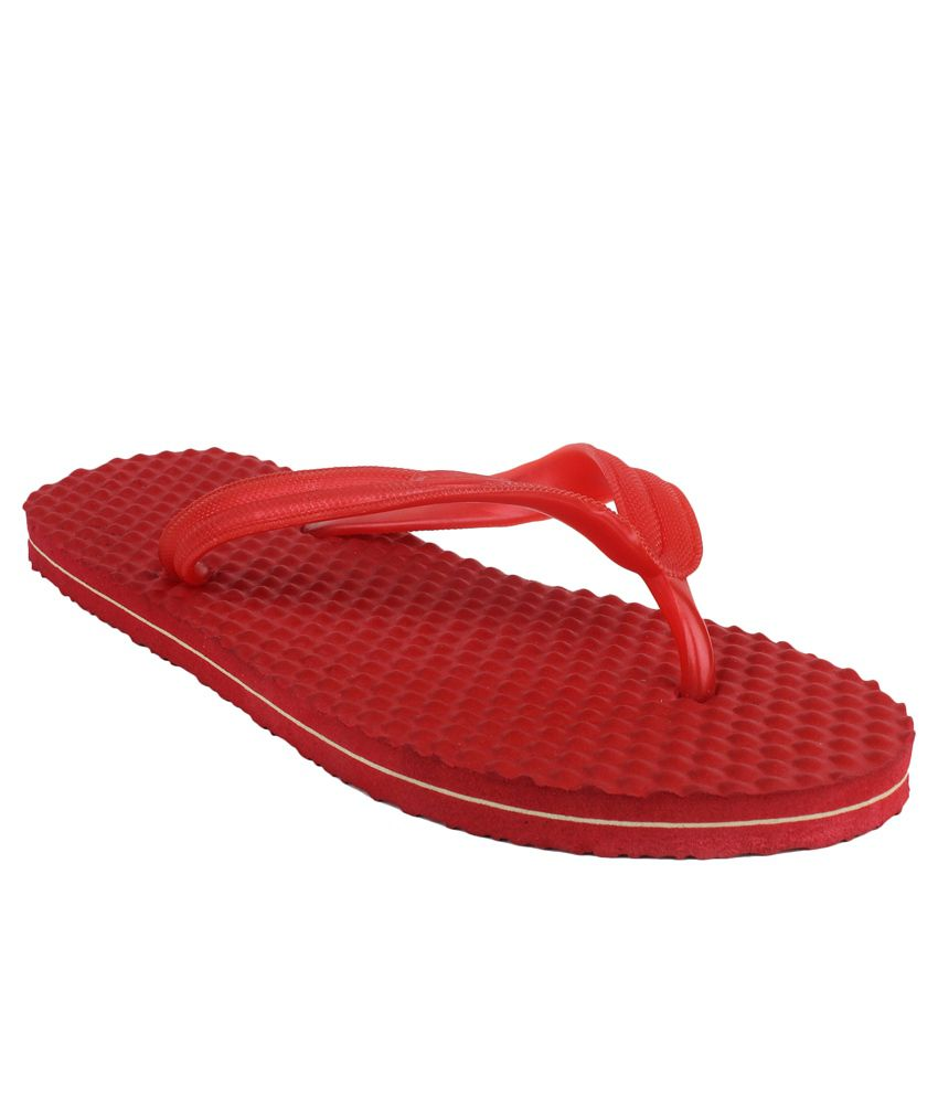 899c13f832e2 11e Red Slippers amp  Flip Flops available at SnapDeal for Rs.249