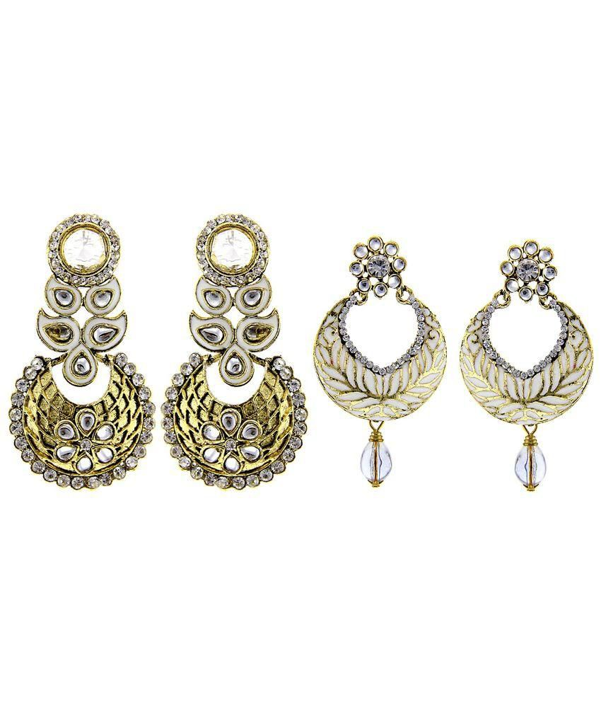 Kaizer Jewelry White Gold Plated Alloy Earrings