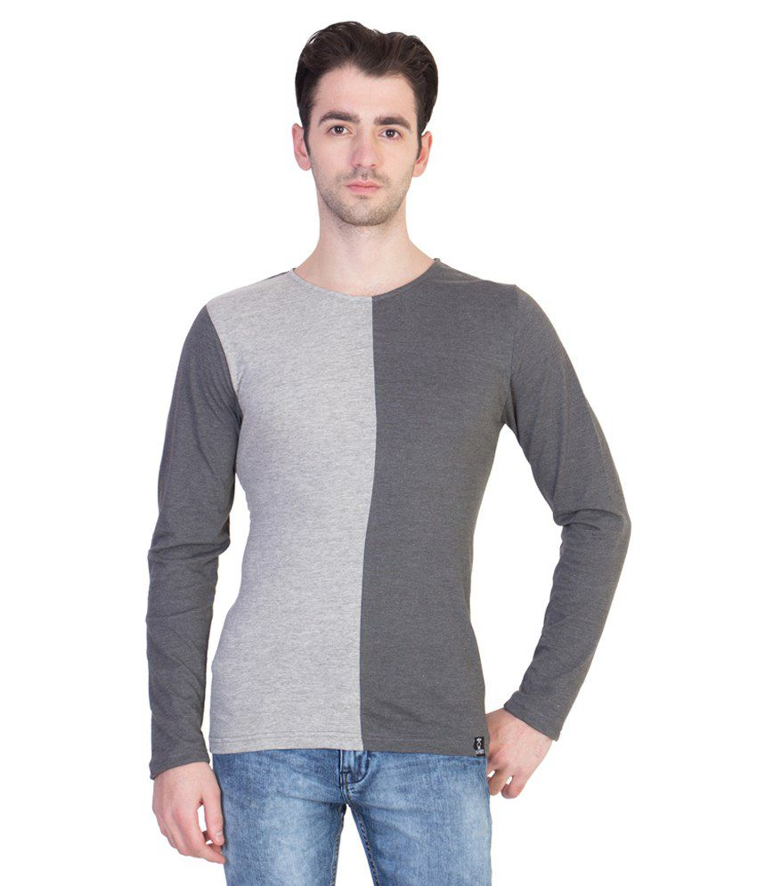 14 Forty Grey Cotton T Shirt