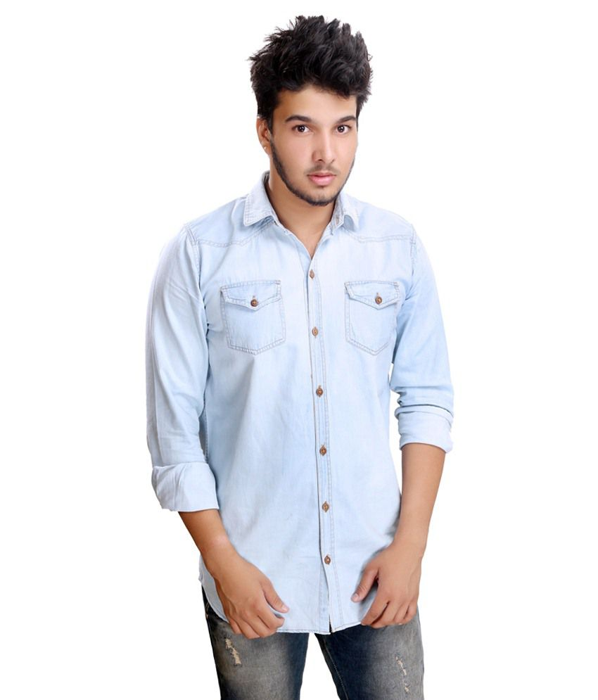 b6c0147e3f38 Camrick Sky Blue Denim Shirt - Buy Camrick Sky Blue Denim Shirt Online at  Best Prices in India on Snapdeal