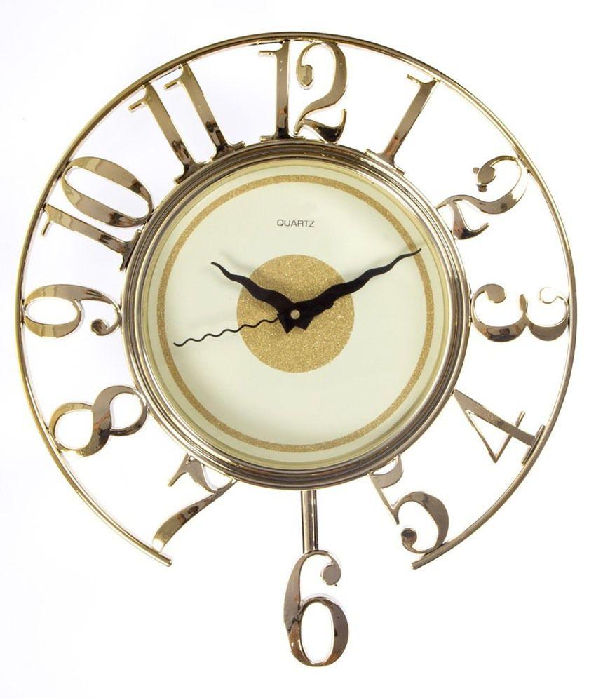 gran textured pendulum wall clock
