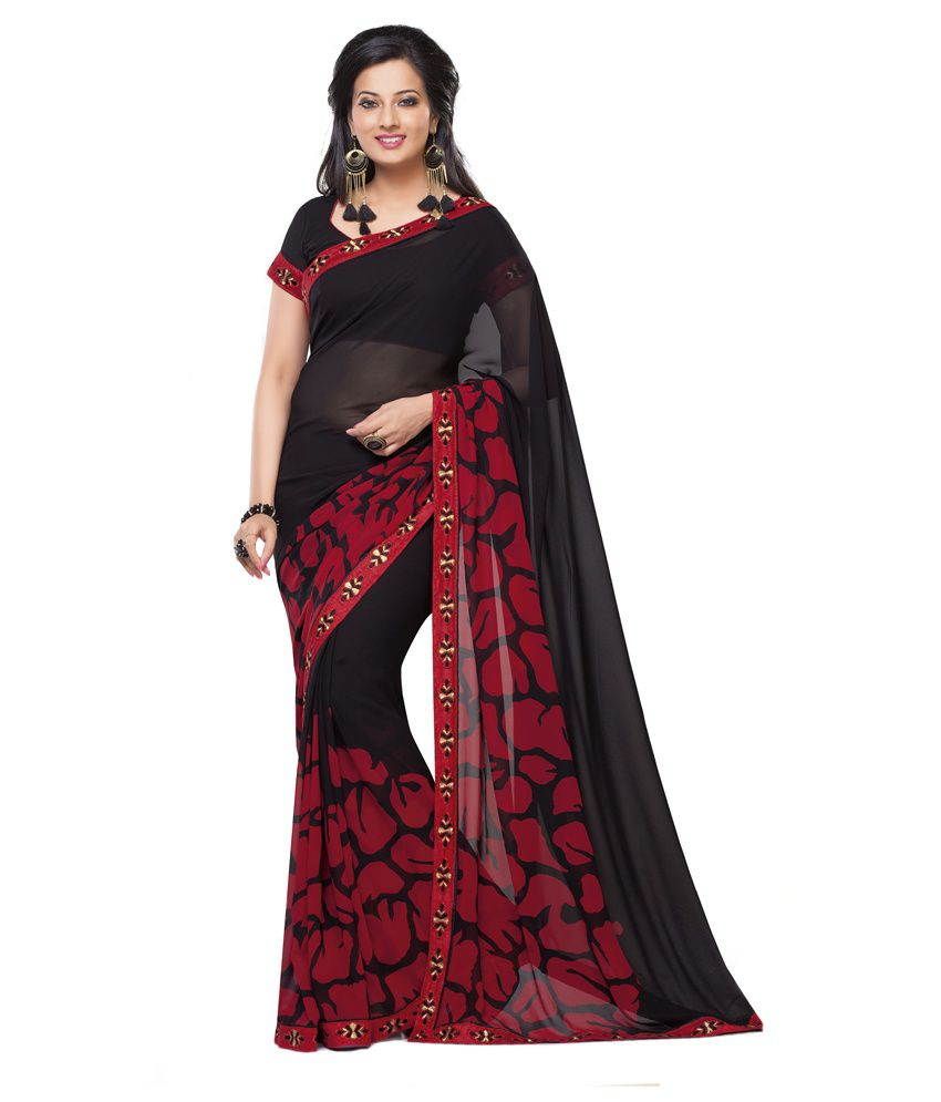 920b32e7b7da14 Palav Red and Brown   Ruby Red Printed Georgette Designer Saree - Buy Palav  Red and Brown   Ruby Red Printed Georgette Designer Saree Online at Low  Price ...