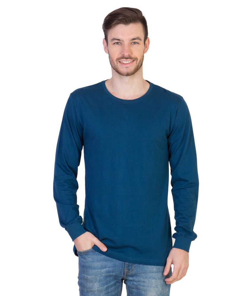 Acomharc Inc Blue Cotton T-shirt