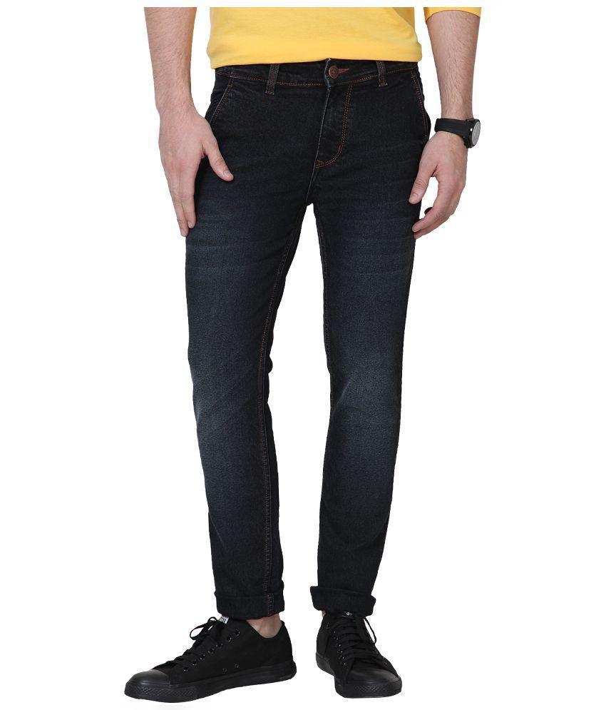 Super-X Black Slim Fit Jeans