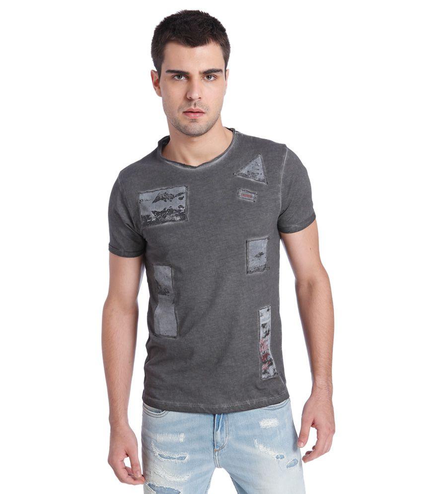 Jack & Jones Grey Printed T-Shirt