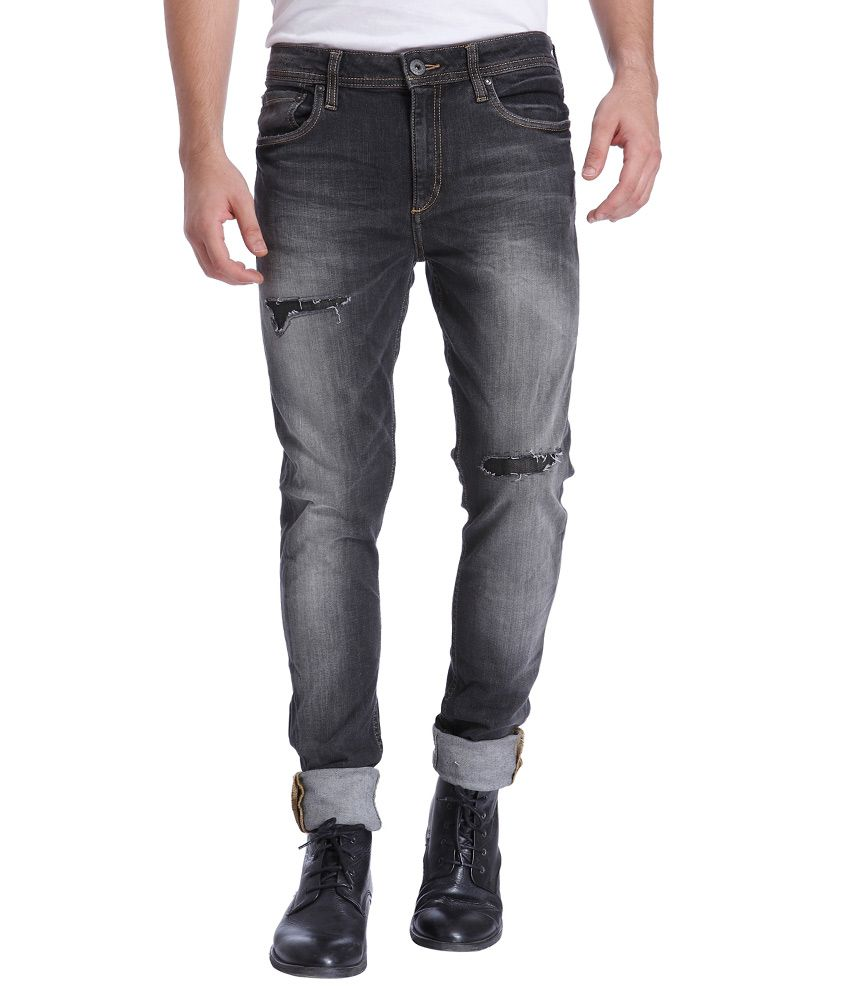 Jack & Jones Grey Slim Fit Jeans