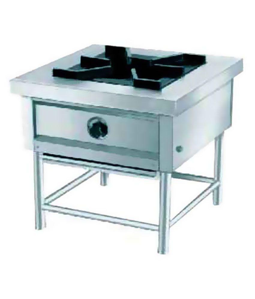Divya Home Appliances Stainless Steel Single Burner with Regulator ...