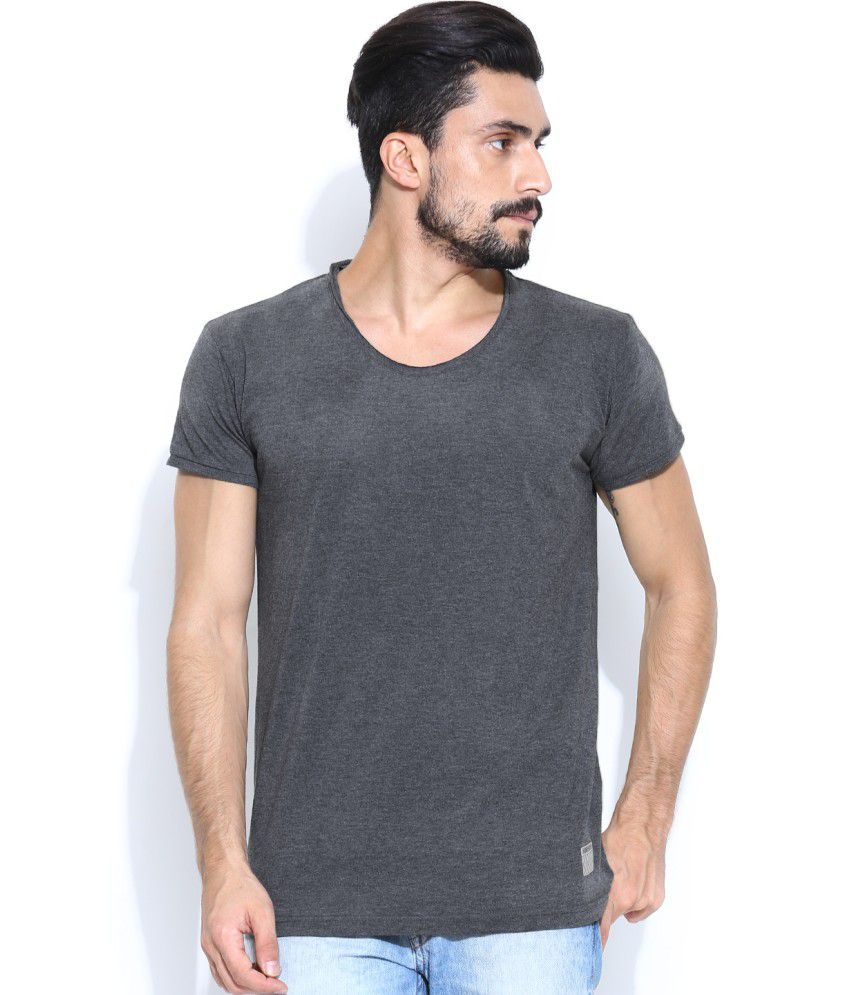 Hubberholme Grey Cotton Cut & Sew T-shirt