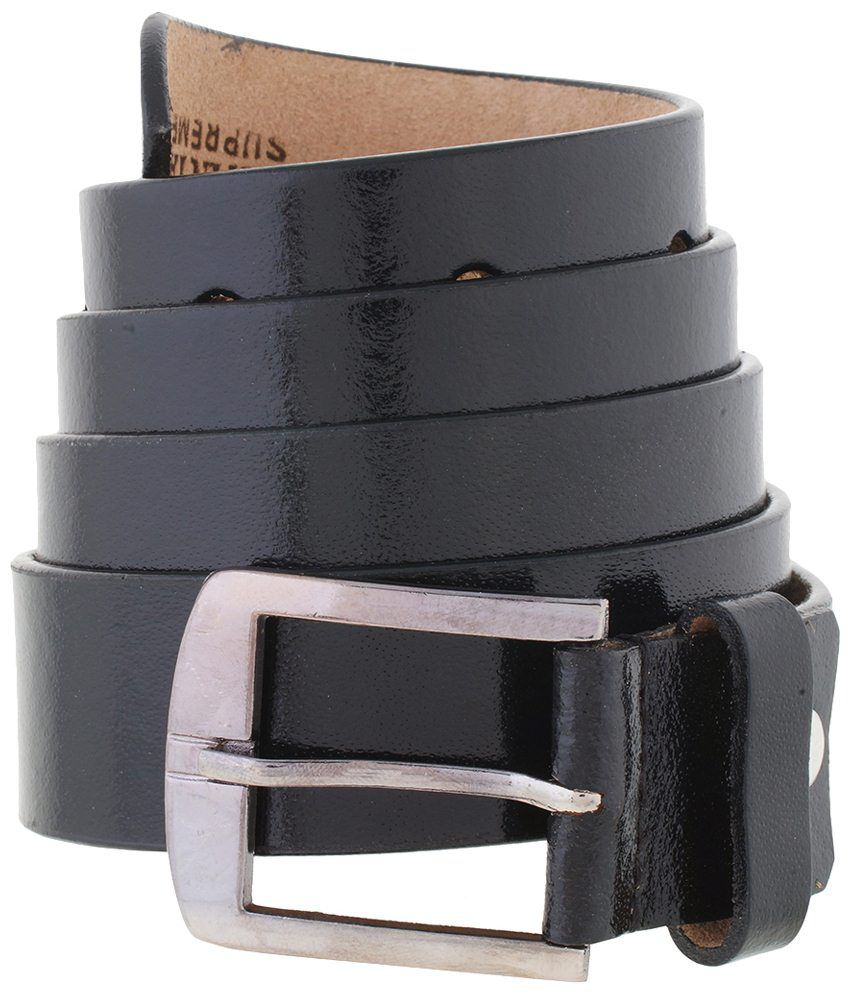 Mall4all Black Leather Formal Belt