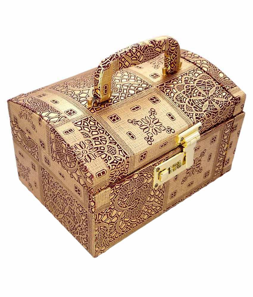 Ocean Enterprises Makeup And Jewellery Vanity Box - Beige