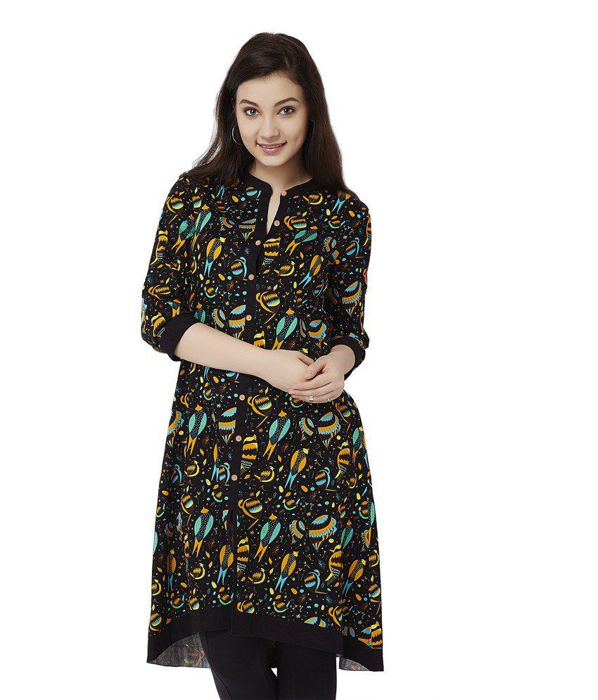 131494dcf6e Chumbak Black Cotton Tunics - Buy Chumbak Black Cotton Tunics Online at  Best Prices in India on Snapdeal