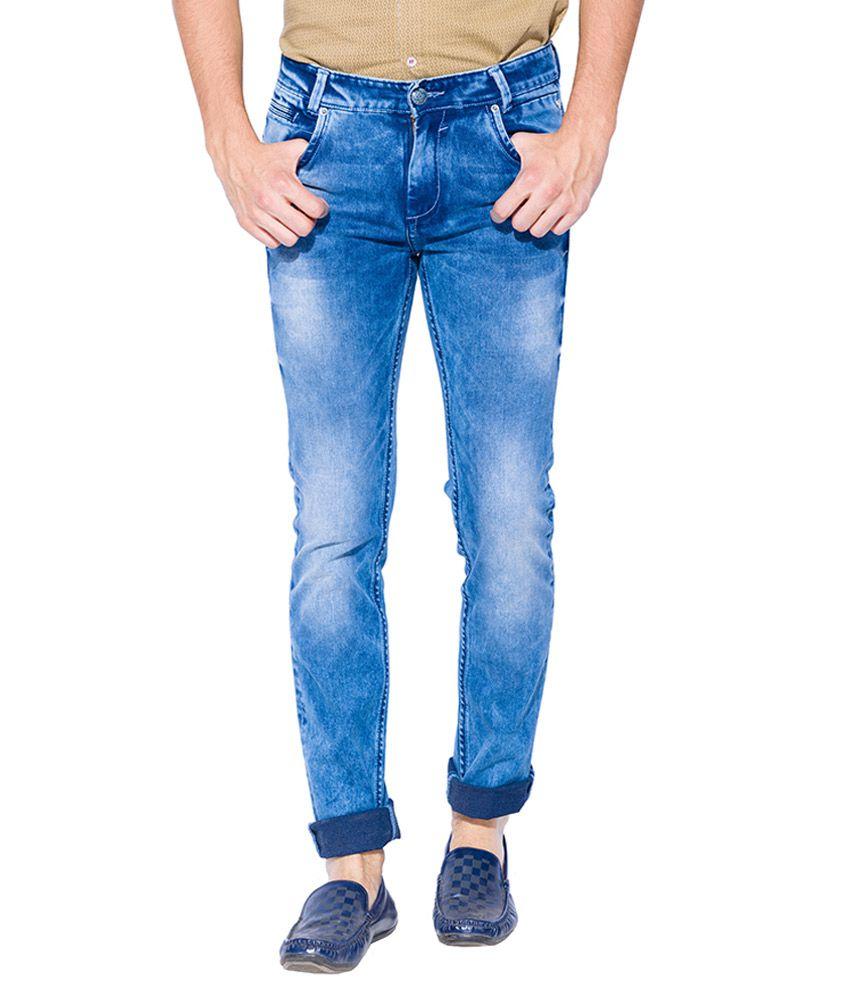 Mufti Blue Slim Fit Jeans