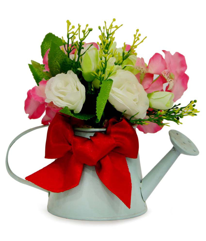 Gifts By Meeta Pink Beautiful Flower Arrangement With Watering Cane