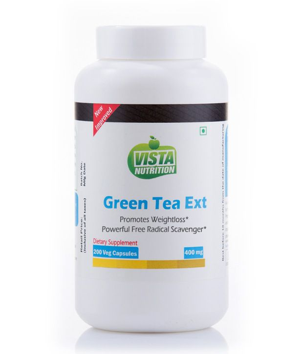 Vista Nutritions Green Tea Extract 400mg - 200 Capsules