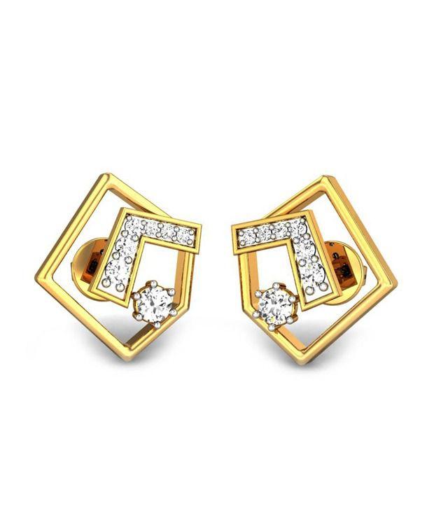 Candere Anisha Diamond Earring 14k Yellow Gold