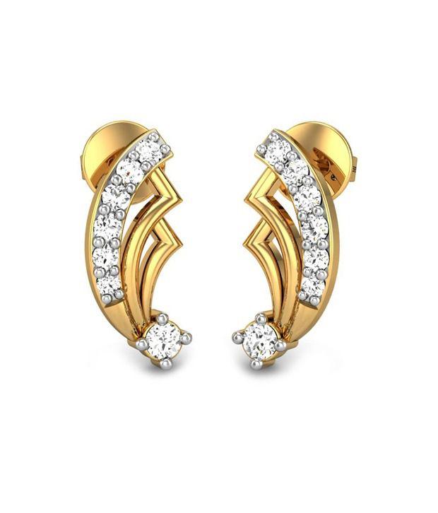 Candere Jovie Diamond Earring 14k Yellow Gold