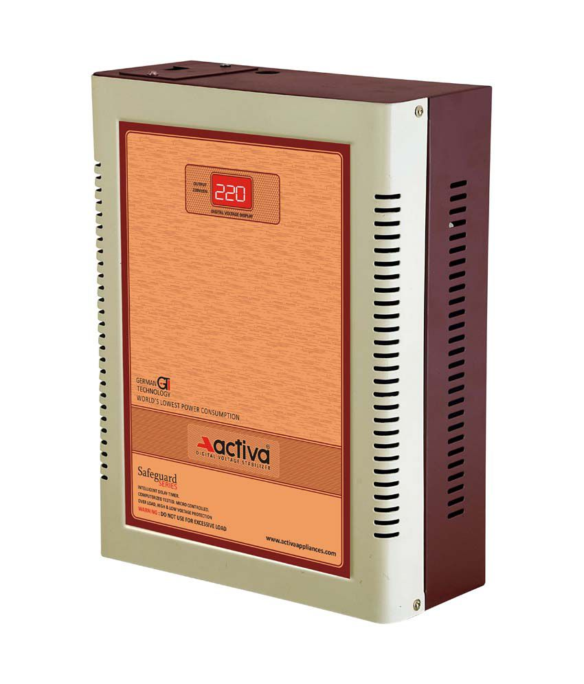Activa Digital AC Voltage Stabliser 4 KVA /110 290 Volts   Ivory