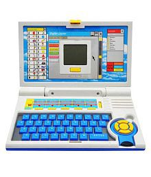 Gm Enterprises Blue 20 Activity English Learner Laptop For Kids