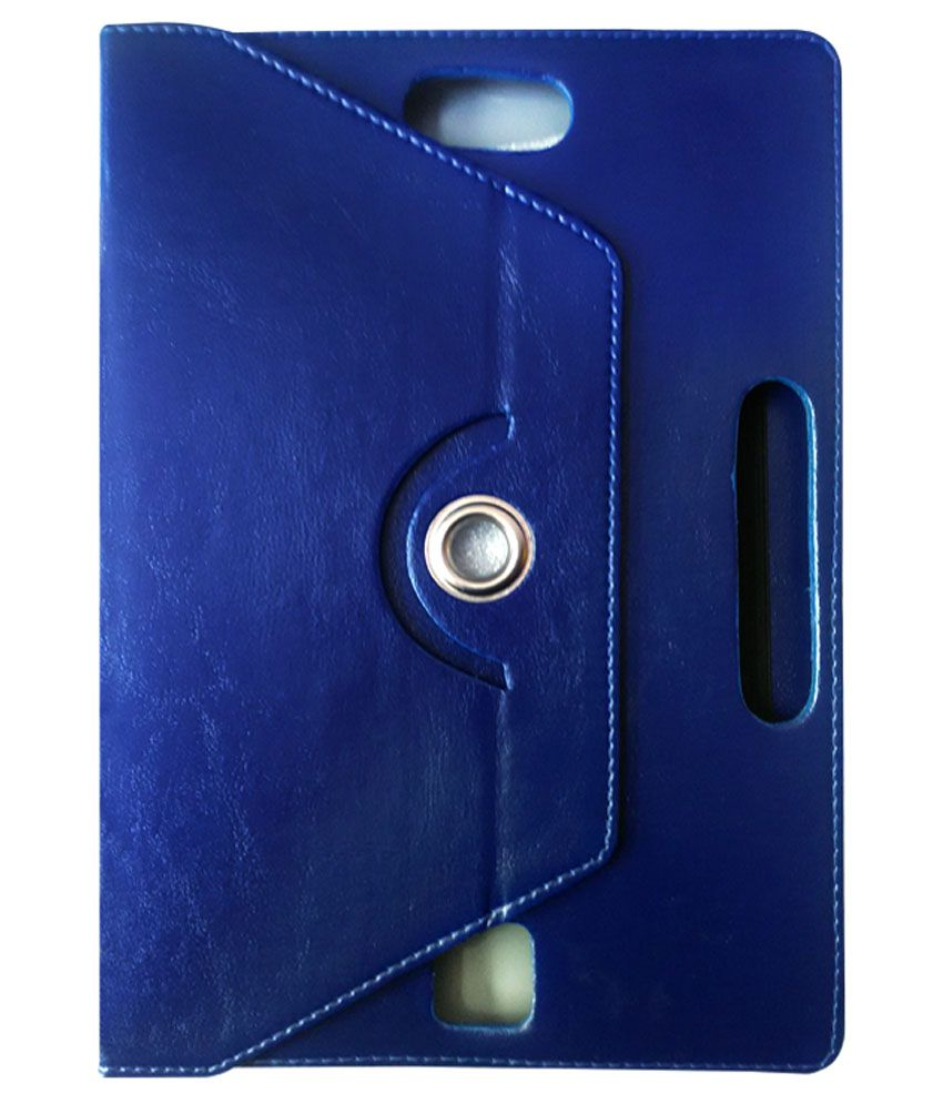Fastway 360 Degree Rotating Tablet Book Cover For Byond Mi - Book Mi9 - Blue