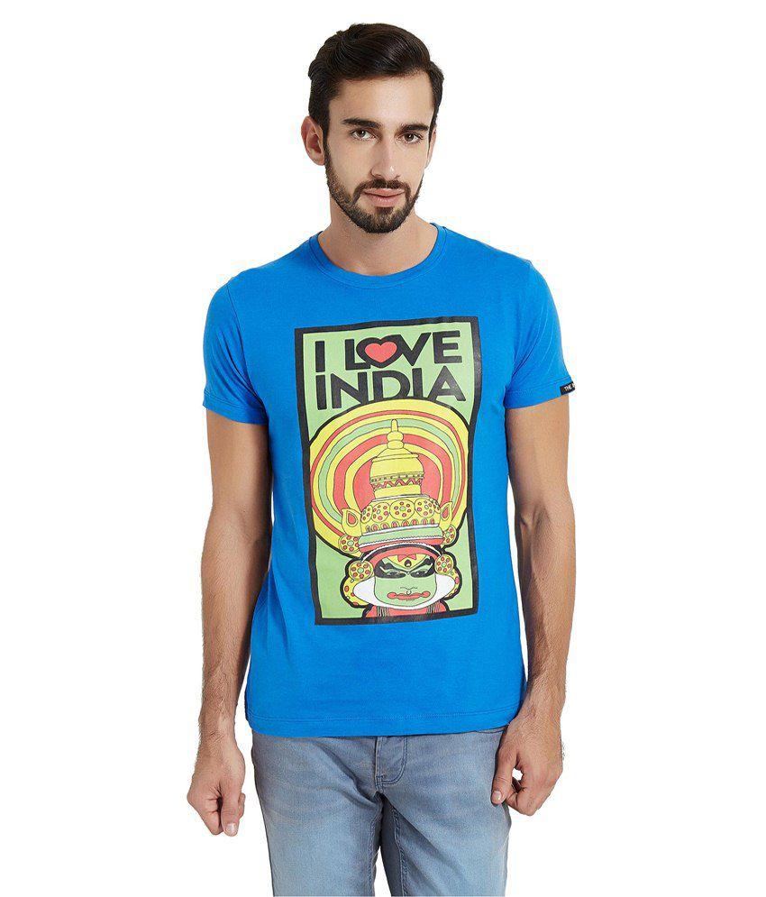 The Indian Blue Cotton T-shirt