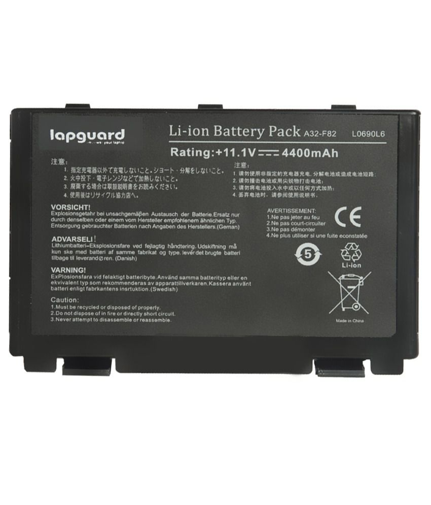 Lapguard 4400 Mah Lithium-ion Replacement Battery Laptop Battery For Asus K50ij-bbz5