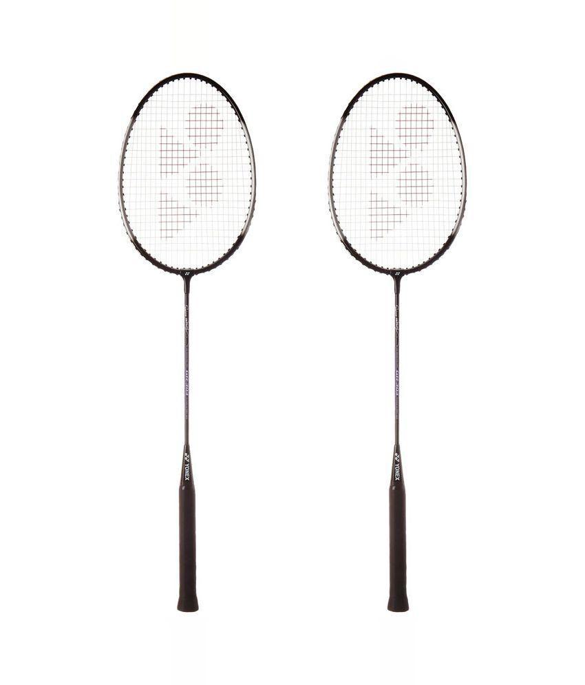 Yonex Black GR 303 Badminton Racquet - Pack of 2