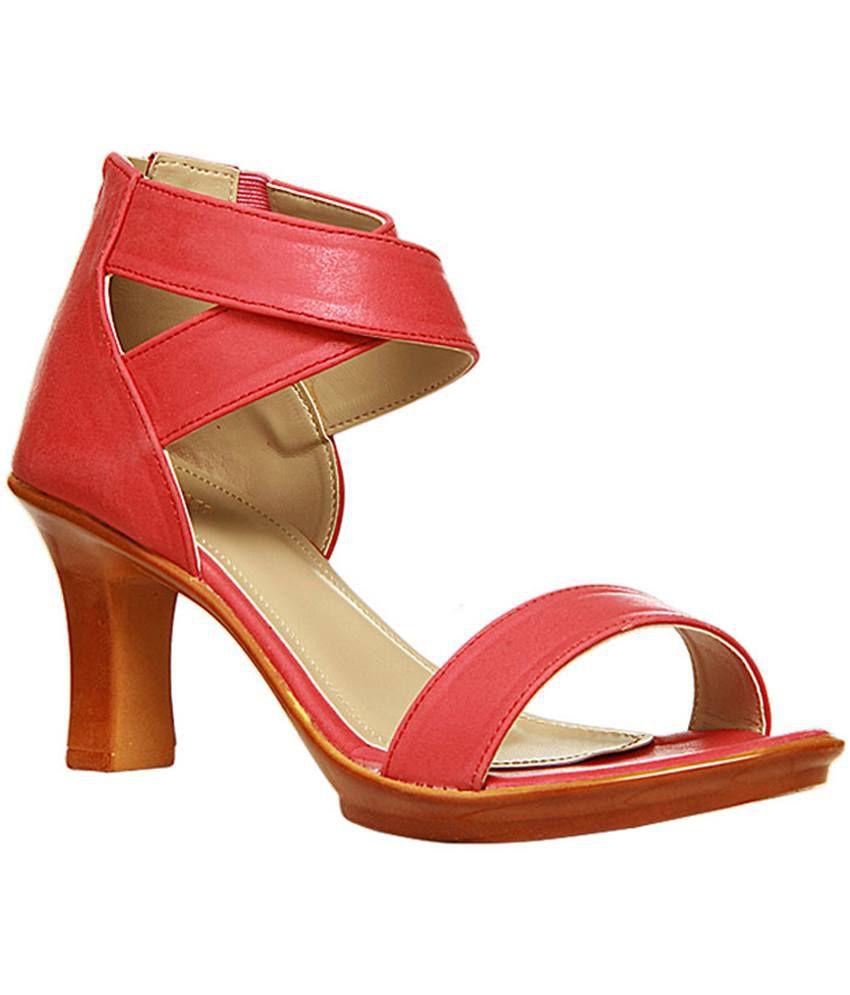Bata Red Block Heels