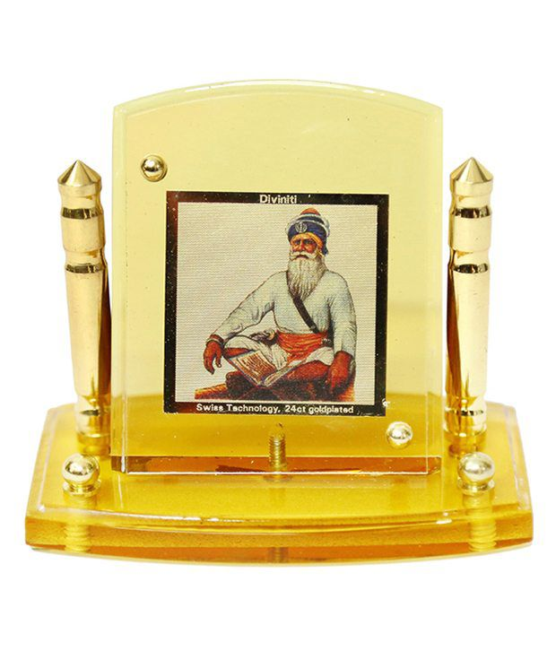 Diviniti 24krt Gold Plated Baba Deep Singh God Idol For All Cars